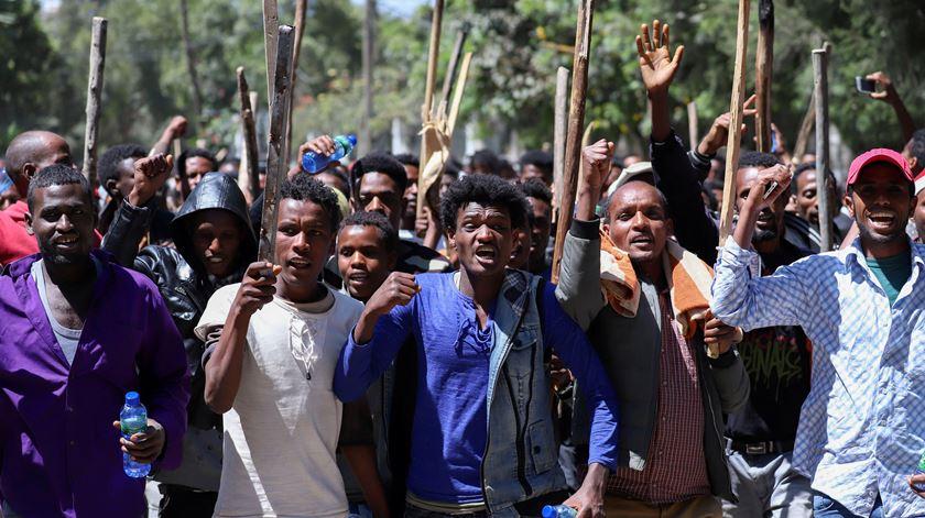 Papa lembra vítimas de violência na Etiópia.Mais de 70 pessoas morreram em confrontos