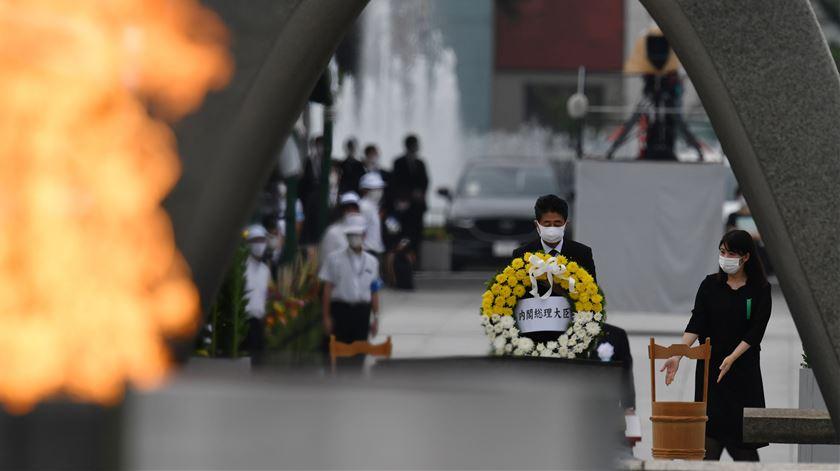 75 anos de Hiroshima. Autarca assinala cerimónia com apelo à proibição de armas nucleares
