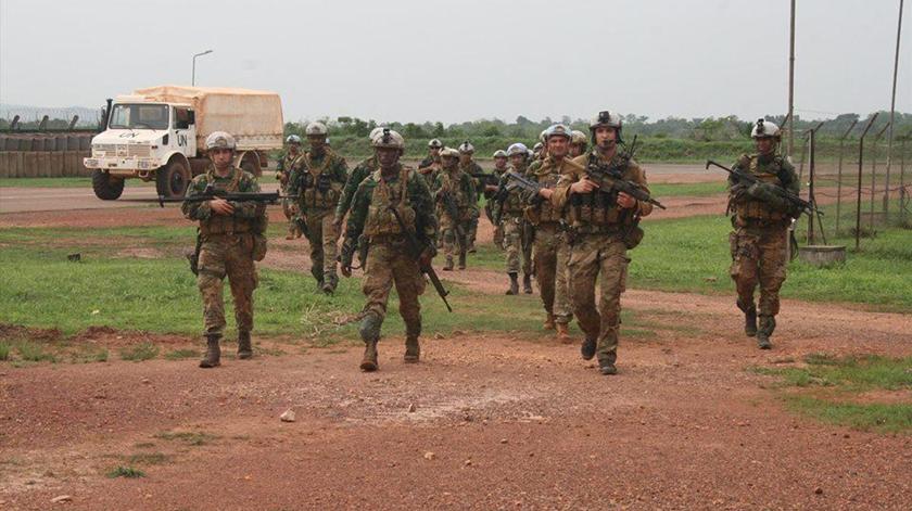 Militares portugueses integrados na missão da ONU na RCA. Foto: Forças Armadas