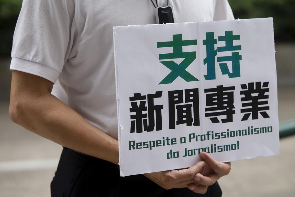 Macau tem assistido a manifestações pela liberdade de impresa. Foto: Carmo Correia/Lusa