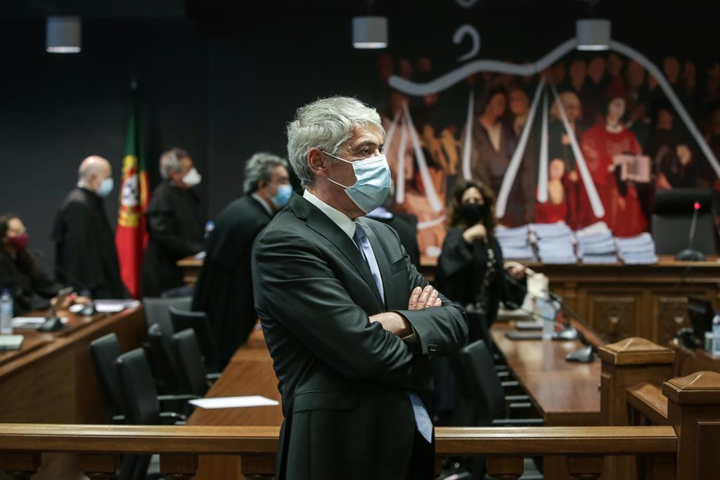 José Sócrates durante a leitura da decisão instrutória da Operação Marquês. Foto: Mário Cruz/Lusa
