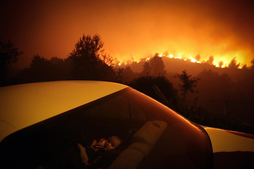Fogo na Floresta. Foto: Nuno André Ferreira/Lusa
