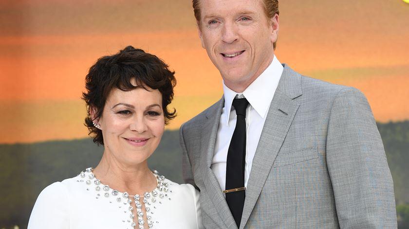 Helen McCrory com o marido Damien Lewis. Foto: Neil Hall/EPA