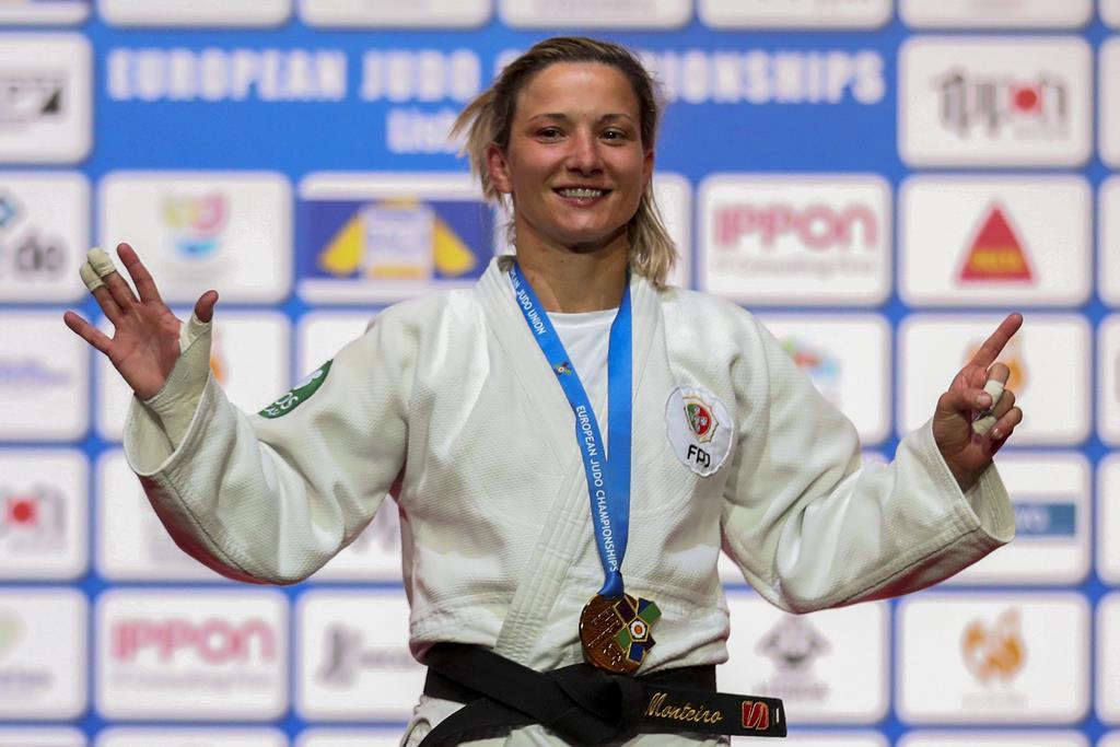 Telma Monteiro conquistou a medalha de ouro. Foto: Nuno Veiga/Lusa