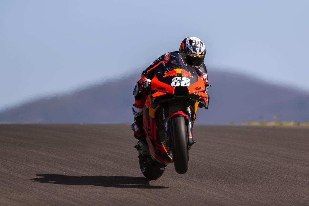Miguel Oliveira, KTM, no Grande Prémio de Portugal MotoGP em Portimão. Foto: José Sena Goulão/EPA
