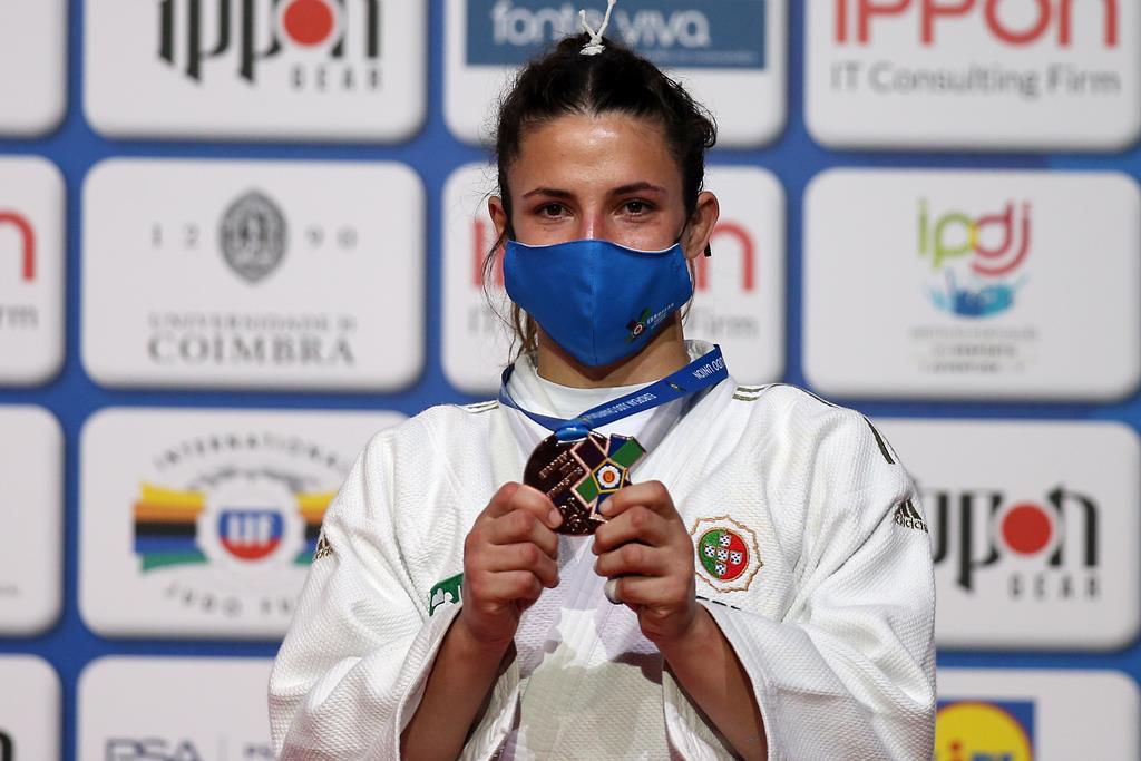 Barbara Timo conquista medalha de bronze no Europeu de Judo. Foto: Nuno Veiga/EPA