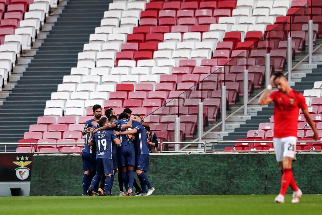 Leautey marcou o golo do Gil Vicente diante do Benfica na Luz. Foto: Mário Cruz/Lusa