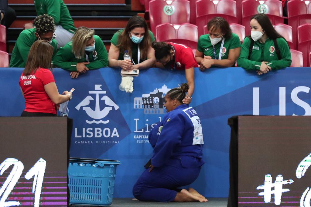 Rochele Nunes conquista medalha de bronze no Europeu de Judo de Lisboa. Foto: Nuno Veiga/EPA