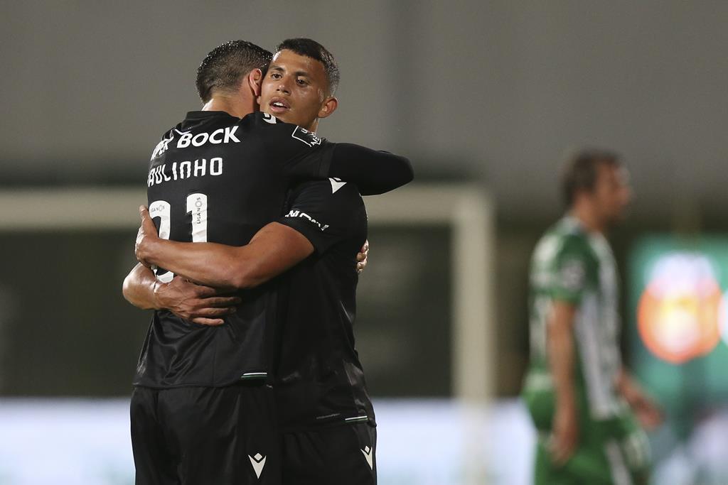 O Sporting venceu em Vila do Conde e ficou mais perto de conquistar o título Foto: José Coelho/Lusa