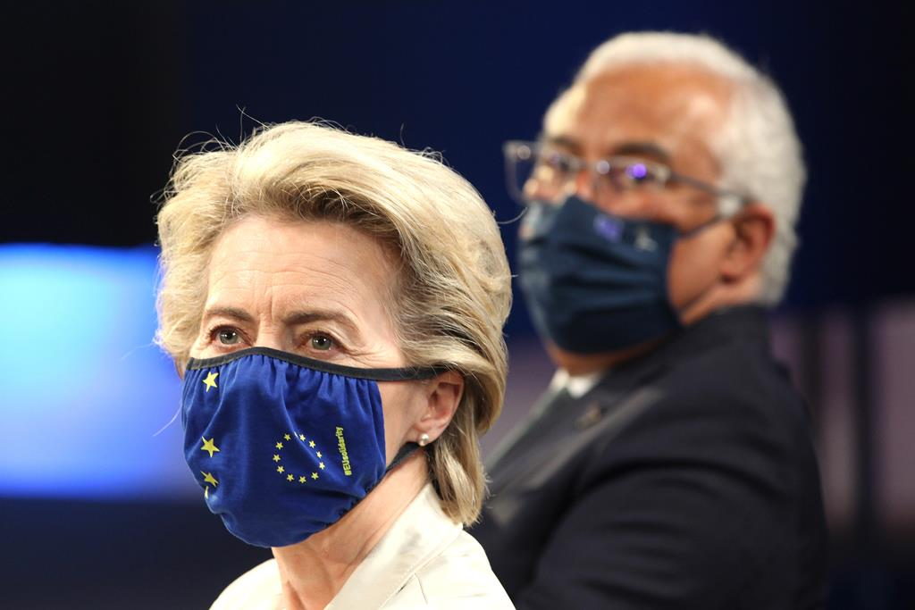 Ursula von der Leyen, presidente da Comissão Europeia. Foto de arquivo: Antonio Pedro Santos/Pool/EPA