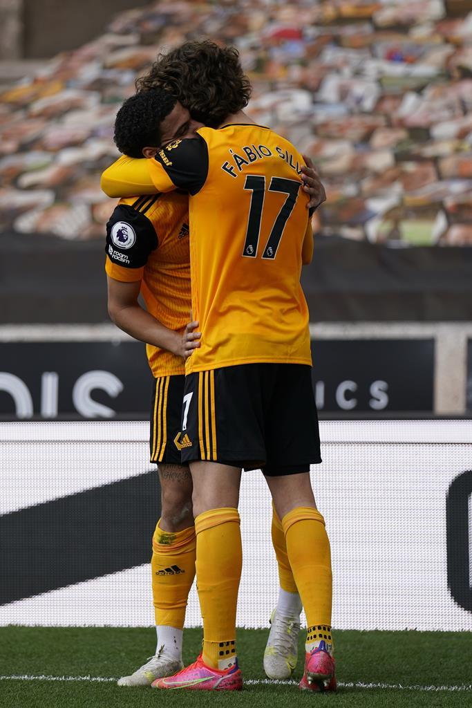 Morgan Gibbs-White marcou segundo golo. Fábio Silva ofereceu o primeiro na vitória do Wolverhampton sobre o Brighton. Foto: Tim Keeton/EPA