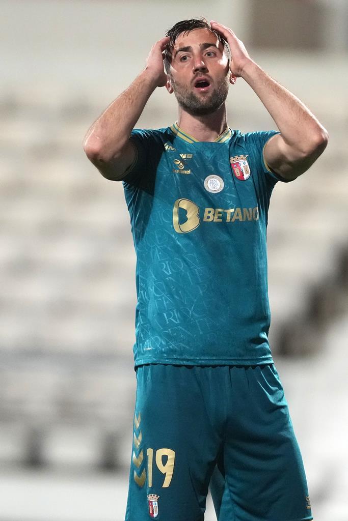 Sporar, Sp. Braga, durante partida com Gil Vicente. Foto: Hugo Delgado/Lusa