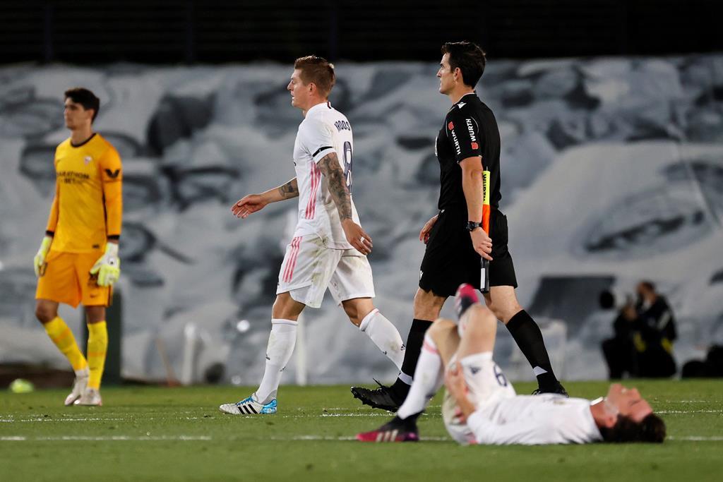 Real Madrid e Sevilha empatam. Foto: Ballesteros/EPA