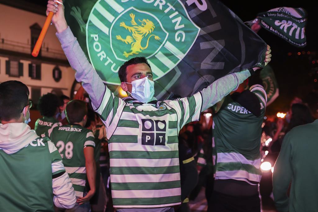 Madeira saiu à rua para festejar o título do Sporting. Foto: Homem Gouveia/Lusa