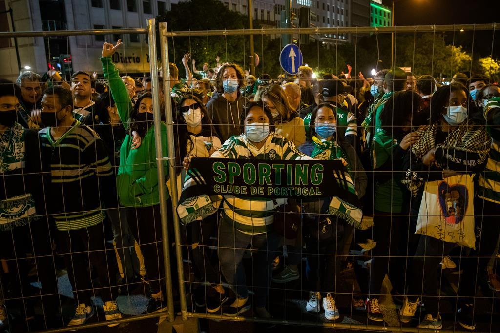 No Marquês de Pombal viveram-se alguns momentos de tensão. Foto: José Sena Goulão/Lusa