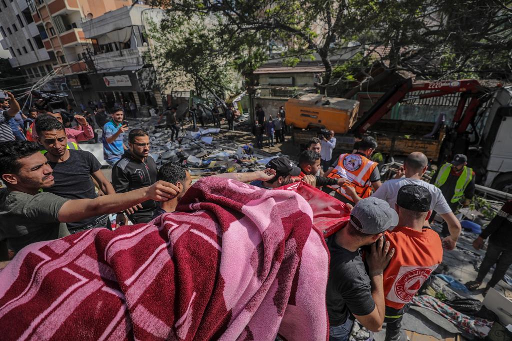 Conflito entre Israel e o Hamas já fez mais de 100 mortos em Gaza. Foto: Haitham Imad/EPA