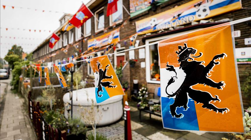 Amesterdão enfeitada para receber a seleção dos Países Baixos. Foto: Remko De Waal/EPA