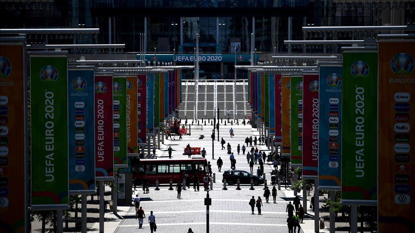 Estádio de Wembley, em Londres, é o palco da final. Foto: Neil Hall/EPA