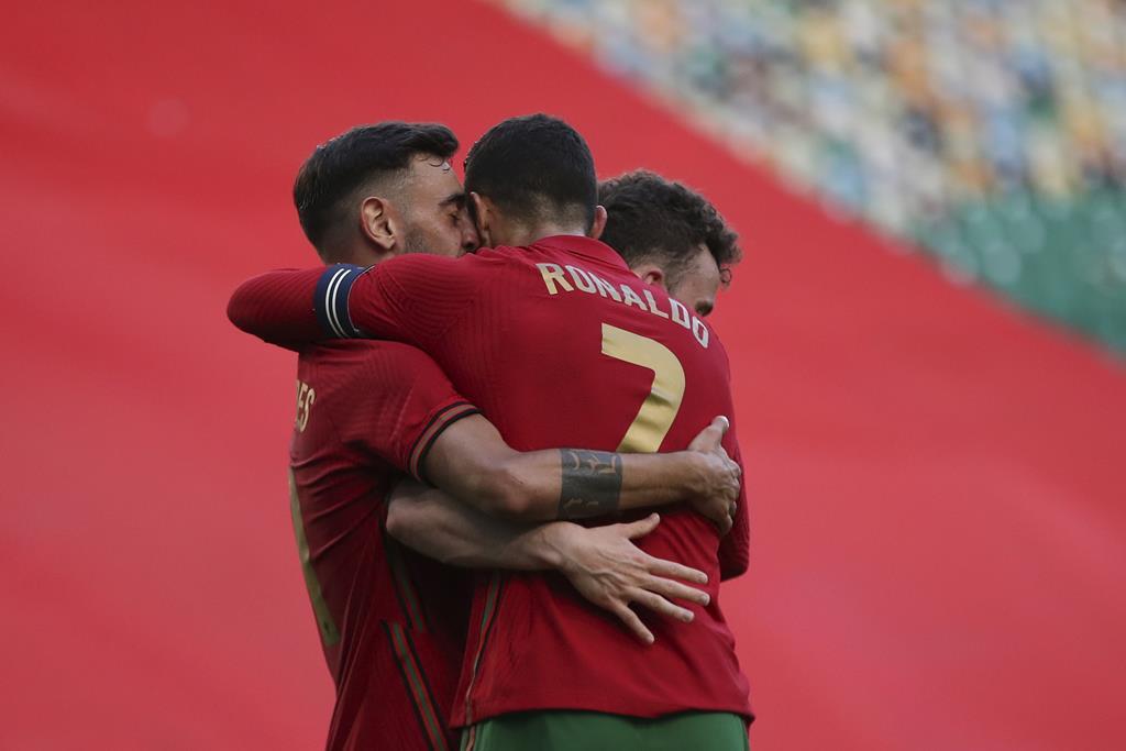 Portugal venceu o último jogo de preparação, frente a Israel. Foto: Manuel De Almeida/Lusa