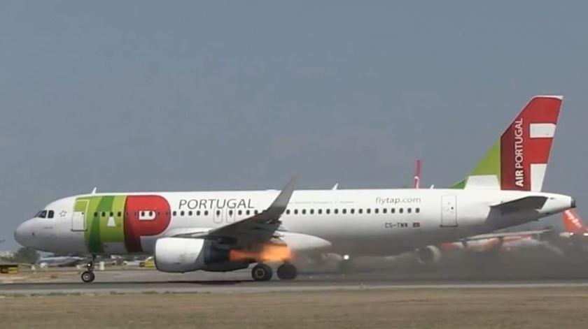 Vídeo revela o momento da falha no motor do avião da TAP