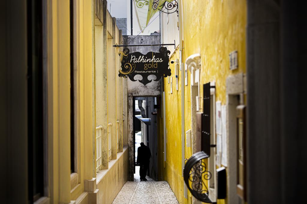Ruela no centro de Rio Maior. Foto: Sofia Freitas Moreira/RR