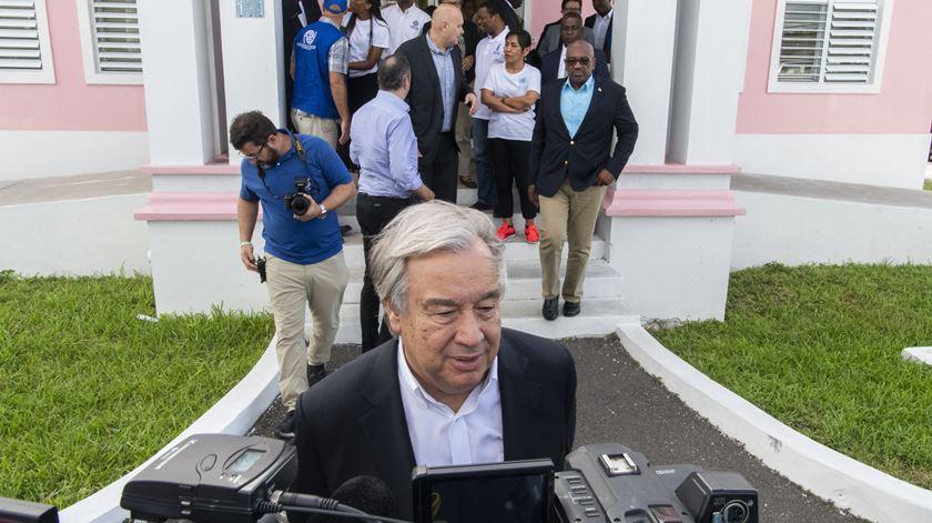 """António Guterres nas Bahamas: """"o apoio internacional será absolutamente essencial"""""""