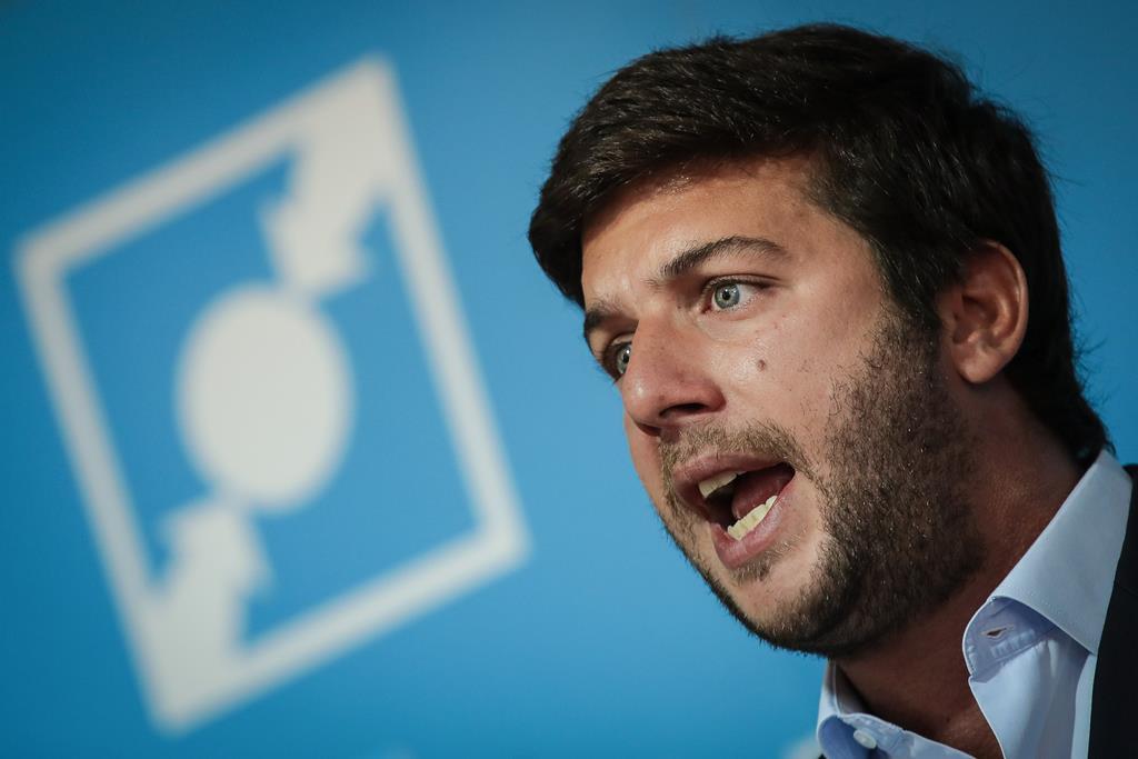 Francisco Rodrigues dos Santos contestado na liderança do CDS. Foto: Mário Cruz/Lusa