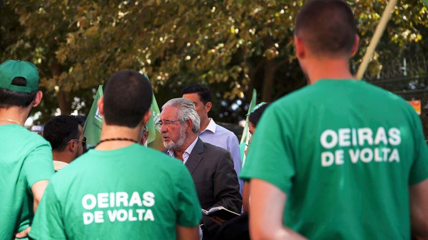 Acção de campanha de Isaltino Morais em Oeiras. Foto Margarida Alpuim/RR