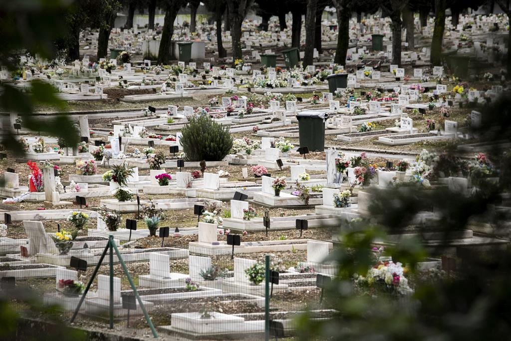 Cemitério de Benfica, em Lisboa.