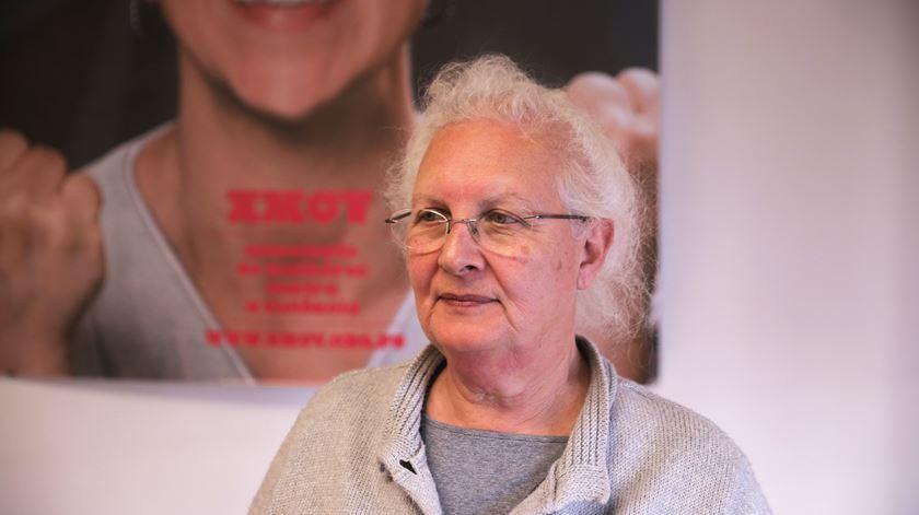 Margarida Medina Martins, uma das fundadoras da Associação de Mulheres contra a violência. Foto: Joana Gonçalves\ RR