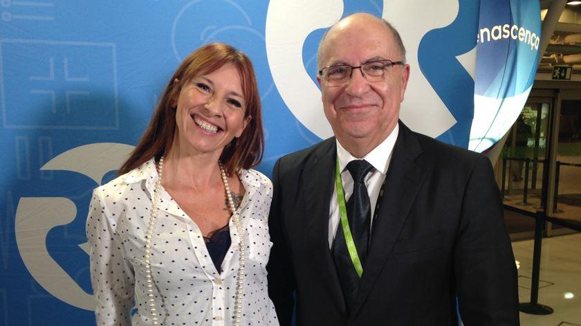 Ana Galvão e João Nunes, director do Aeroporto de Lisboa