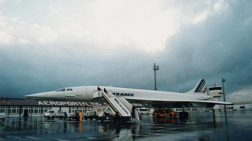 Passagem do Concorde, uma das marcas mais importantes do aeroporto de Santa Maria. Foto: DR