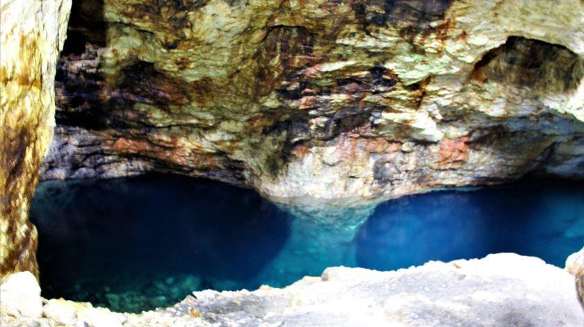 O interior da mina de Queiriga. Foto: Liliana Carona/RR