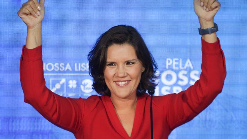 """""""Esta é uma noite histórica para o CDS"""", afirmou a líder do partido e candidata à Câmara de Lisboa. Foto: André Kosters/Lusa"""