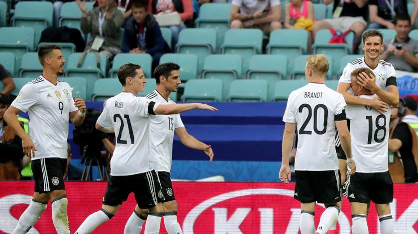 Alemanha entra com pé direito em Sochi. Foto: EPA