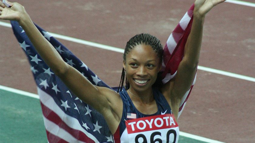 Allyson Felix. Mais medalhas do que Bolt e batalha ganha pelas mulheres
