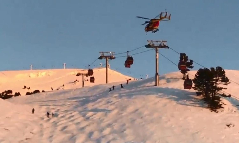 Esquiadores presos em teleférico nos Alpes já foram retirados
