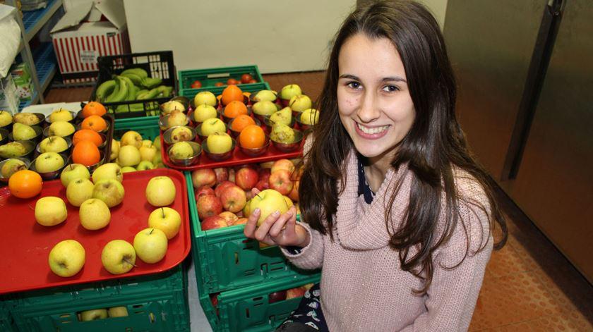 Madalena Fonseca, 16 anos, é uma das alunas que pede sempre o menu vegetariano