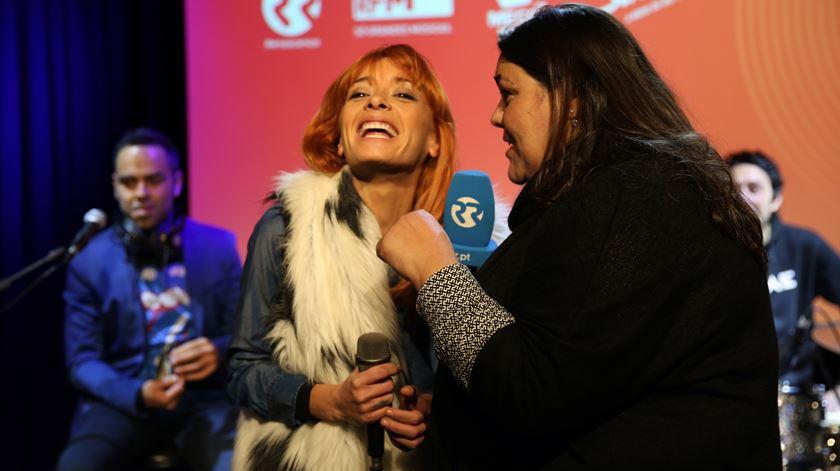 A vocalista dos Amor Electro, Marisa Liz em entrevista a Marta Ventura