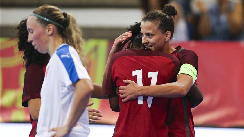 Ana Azevedo é a capitã da seleção feminina de futsal. Foto: Manuel Fernando Araújo/Lusa
