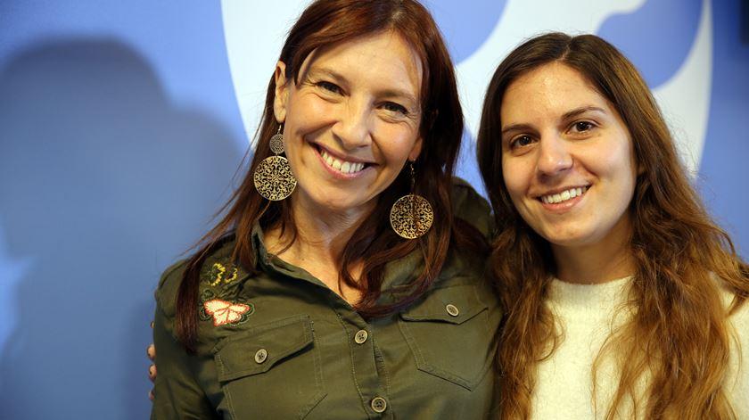 Ana Galvão e a ginasta Ana Rente