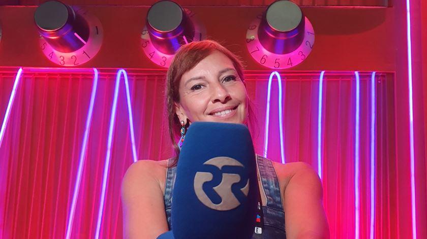 Ana Galvão na rádio do Rock in Rio Brasil, 2019 Foto: DR