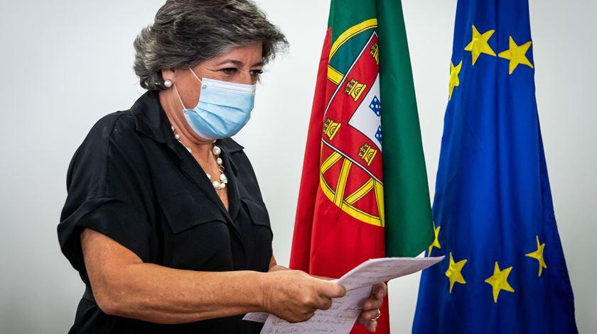 Ana Gomes a 10 de Setembro, na apresentação da candidatura à Presidência da República. Foto: José Sena Goulão/Lusa