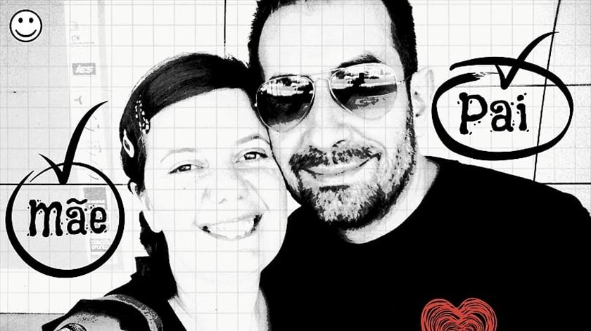 Ana Kotowicz e com o marido. Foto: DR