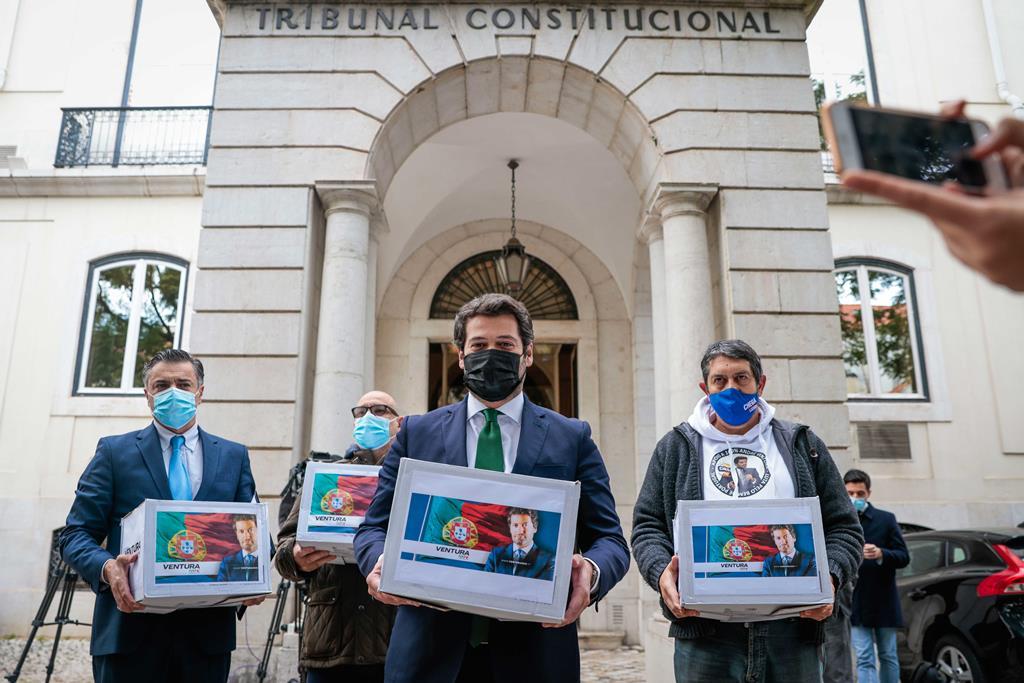 TC detetou irregularidades na candidatura presidencial do deputado do Chega. Foto: José Sena Goulão/Lusa