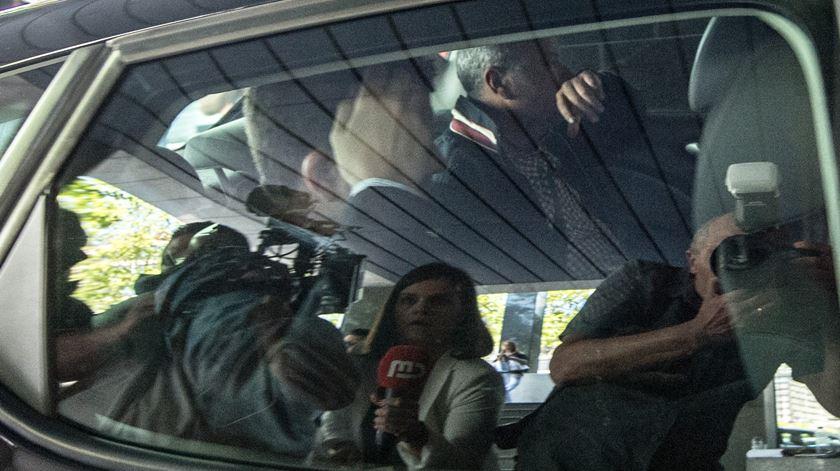 André Geraldes chegou ao CIP no mesmo carro que Paulo Silva. Foto: Rui Farinha/Lusa