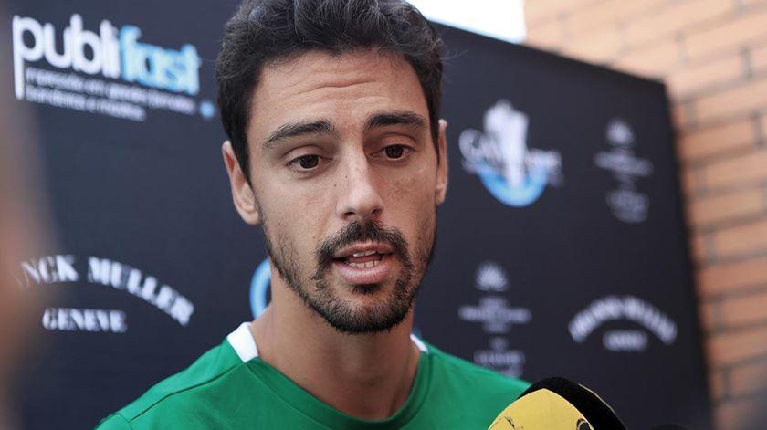 André Pinto fala aos jornalistas. Foto: Sporting CP