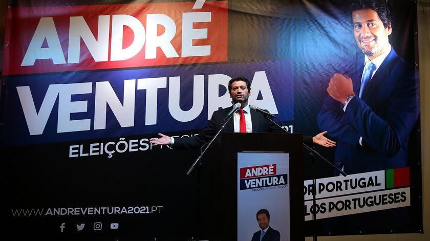 """André Ventura apresenta candidatura a Belém e defende criação da """"quarta República"""""""