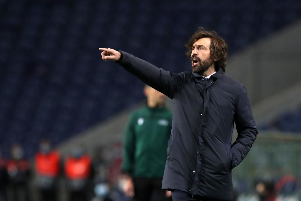 Andrea Pirlo espera que os jogadores da Juventus não cometam os erros do Dragão Foto: Estela Silva/Lusa