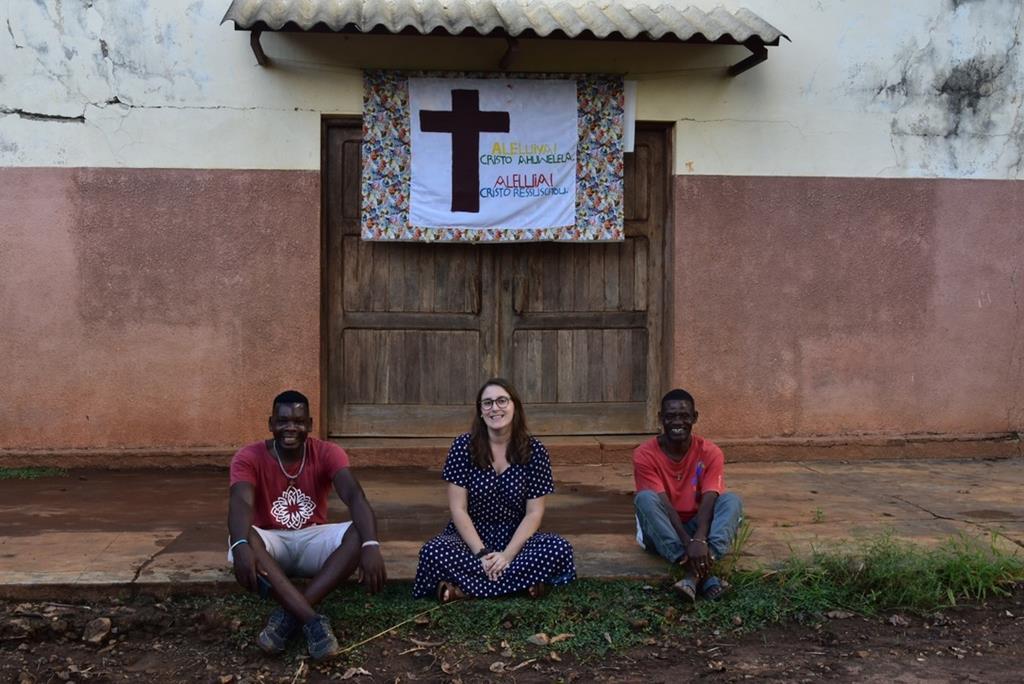 Andreia Araújo, missionária de Braga, na missão de Ocua. Foto: DR